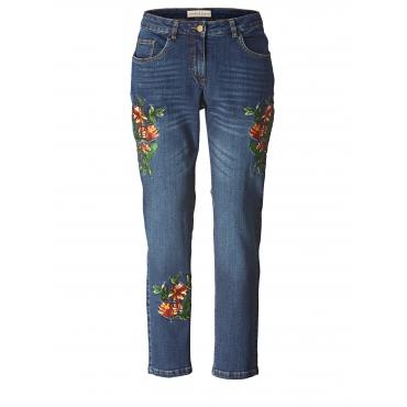 Slim Fit Jeans knöchellang mit Stickerei Janet & Joyce Blau