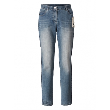 Slim Fit Jeans knöchellang Samoon light blue denim