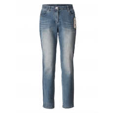 Slim Fit Jeans knöchellang Samoon light blue denim