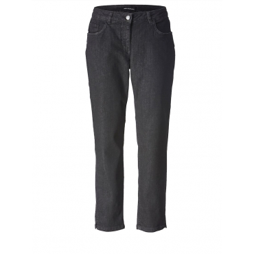 Slim Fit Jeans knöchellang Sara Lindholm black-denim