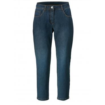 Slim Fit Jeans knöchellang Sara Lindholm Dark blue