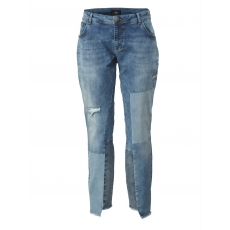 Slim Fit Jeans mit Destroyed-Effekt Zizzi blue denim