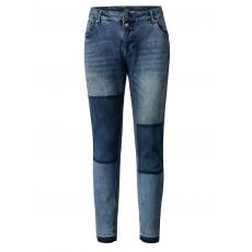 Slim Fit Jeans mit Fransensaum Zizzi blue denim