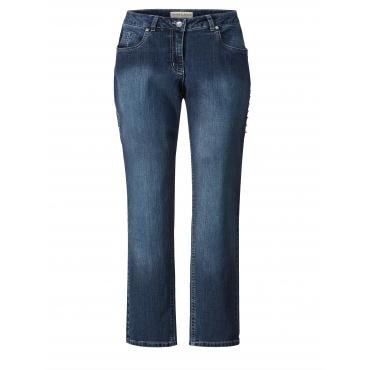 Slim Fit Jeans mit Nieten Janet & Joyce Blau