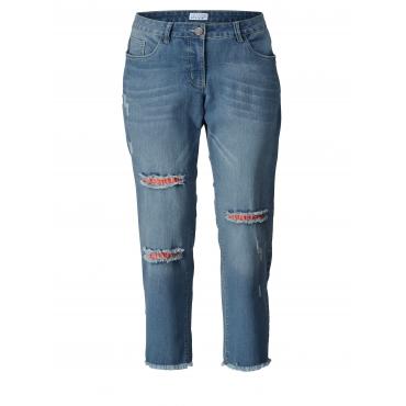 Slim Fit Jeans mit offenem Saum Angel of Style Denim