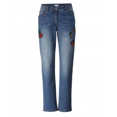 Slim Fit Jeans mit Pailletten-Patches Angel of Style blue stone