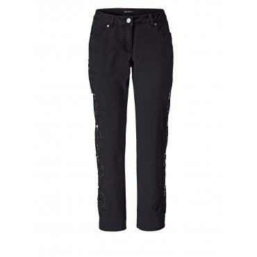 Slim Fit Jeans mit Spitze Sara Lindholm Schwarz