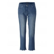 Slim Fit Jeans mit Spitze und Strass Sara Lindholm blue-bleached