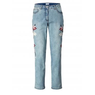 Slim Fit Jeans mit Stickerei Angel of Style Hellblau