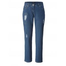 Slim Fit Jeans mit Strass Sara Lindholm blue bleached