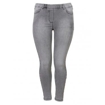 Slim Fit-Jeans mit Stretch-Anteil Via Appia Due jeans grau