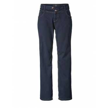 Straight Cut Jeans mit Stickerei Zizzi blue black denim