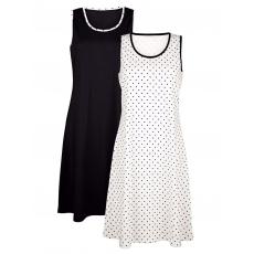 Strandkleid Maritim schwarz/weiß