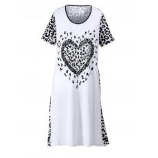 Strandkleid Maritim weiß/schwarz