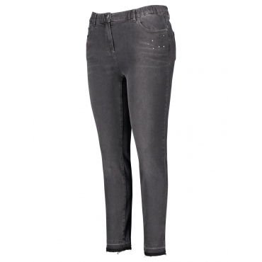 Stretch-Jeans mit Ziersteinen Betty Samoon Dark Grey Denim