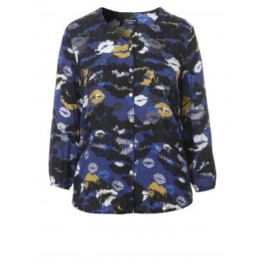 Stylische Bluse mit Print Via Appia Due schwarz multicol.