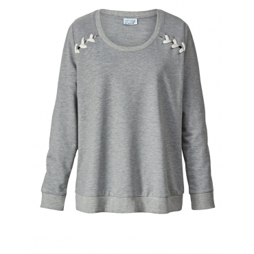 Sweatshirt Angel of Style grau-melange