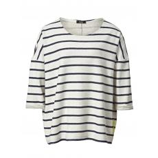 Sweatshirt gestreift Frapp offwhite-marine