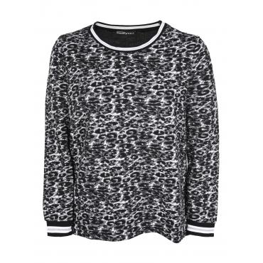 Sweatshirt im Leo-Look seeyou schwarz