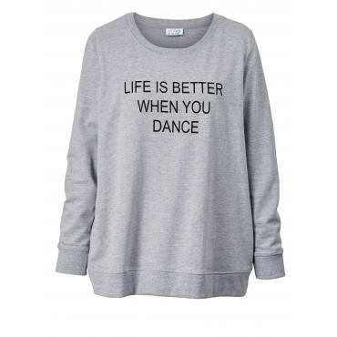 Sweatshirt in Oversize-Form Angel of Style Grau