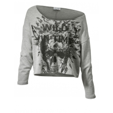 Sweatshirt in Oversize-Form Angel of Style grau-melange