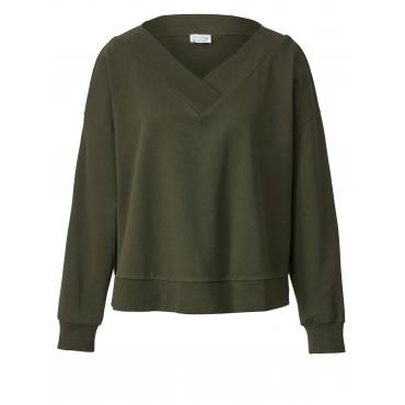 Sweatshirt in Oversize-Form Angel of Style Khaki
