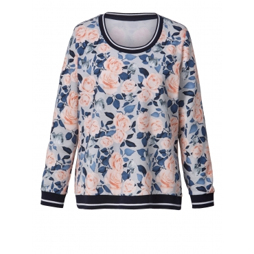 Sweatshirt mit Blumen-Print Angel of Style Multicolor