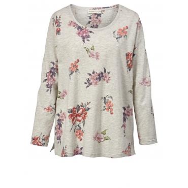 Sweatshirt mit Blumen-Print Janet & Joyce Beige
