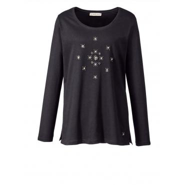 Sweatshirt mit Perlen Janet & Joyce schwarz