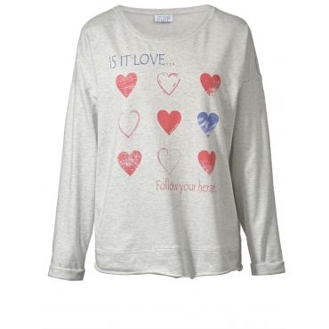 Sweatshirt mit Statementprint Angel of Style grau-melange