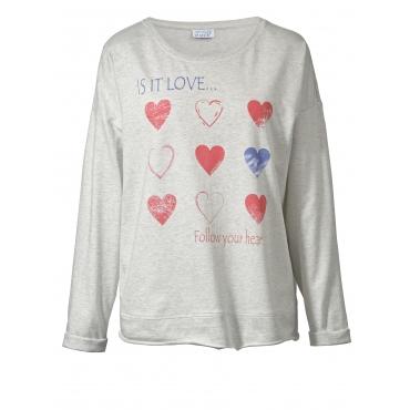 Sweatshirt mit Statementprint Angel of Style Orange