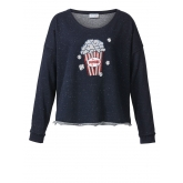 Sweatshirt mit Stickerei und Pailletten Angel of Style marine-melange