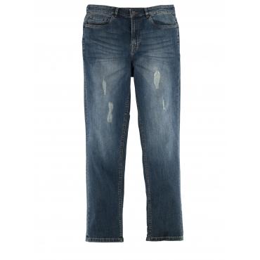 Tapered-Jeans Men Plus dark blue green