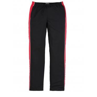Trainingshose Men Plus schwarz/rot/weiß