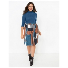 Turtleneck-Shirt mit Lurex Samoon Vibrant Teal