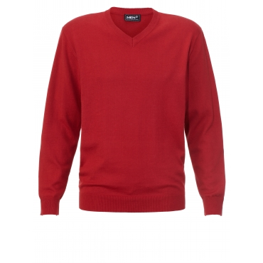 V-Pullover Men Plus blau