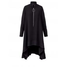 Vokuhila-Kleid mat. schwarz