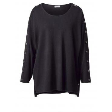 Vokuhila-Pullover in Oversize-Form Zhenzi Schwarz
