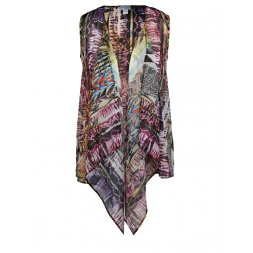 Weste mit Allover-Print Angel of Style gemustert