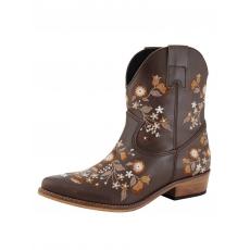 Westernstiefelette braun/floral
