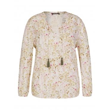 Zarte Bluse mit Blumen-Print Frapp creme