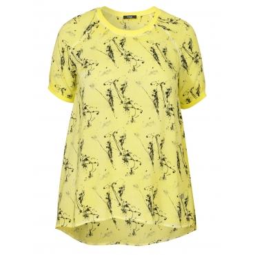 Zartes Blusen-Shirt mit Muster Frapp gelb