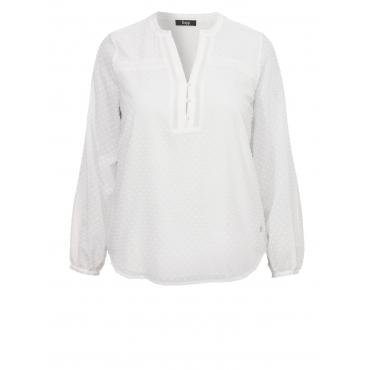 Zartes Blusen-Shirt mit Strukturmuster Frapp off white