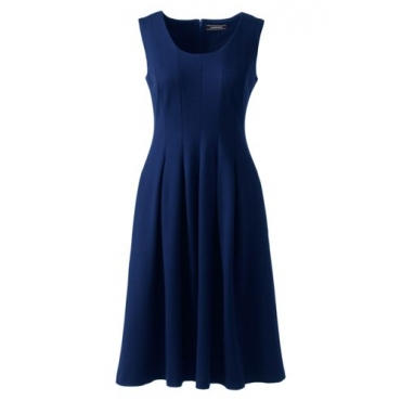 Ärmelloses Ponté-Kleid mit Plisseefalten