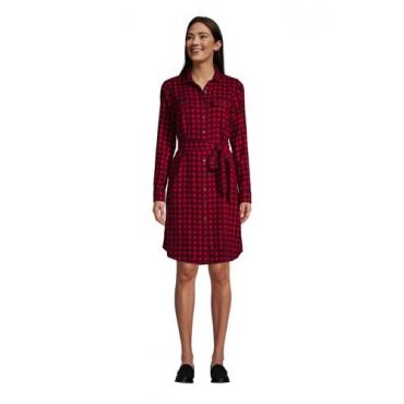 Blusenkleid aus Baumwoll-Flanell