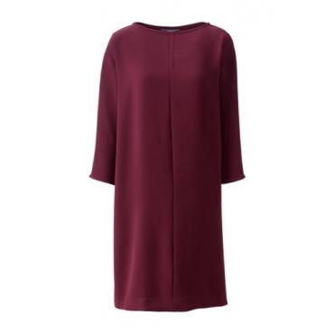 Crêpe-Kleid mit Dolman-Ärmeln