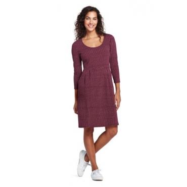 Gemustertes Jerseykleid mit 3/4-Ärmeln  in großen Größen
