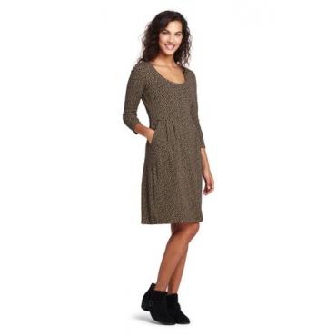 Gemustertes Jerseykleid mit 3/4-Ärmeln