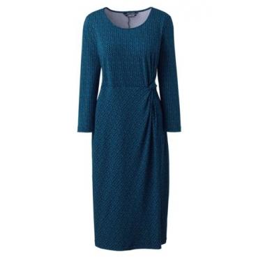 Gemustertes Jerseykleid mit Knoten-Detail  in großen Größen