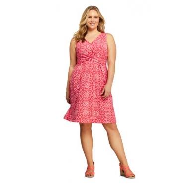 Gemustertes Jerseykleid mit Wickeloberteilin großen Größen
